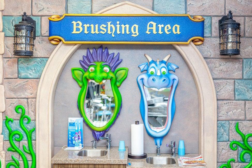 Brushing Area